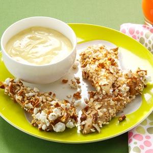 Popcorn & Pretzel Chicken Tenders Recipe