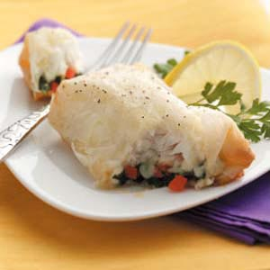 Phyllo-Wrapped Halibut Recipe