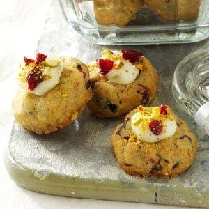 Cranberry-Pistachio Thumbprint Cookies Recipe