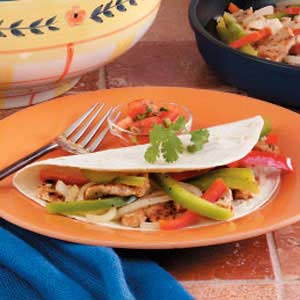 Chicken Pepper Fajitas Recipe