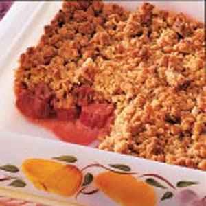Rhubarb Granola Crisp Recipe