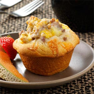 Breakfast Biscuit Cups Recipe