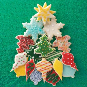 Decorated Christmas Cutout Cookies Recipe