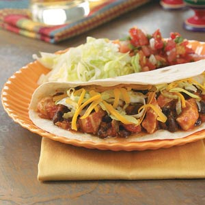 Black Bean Chicken Tacos Recipe