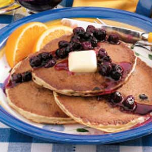 Blueberry Buttermilk Pancakes Recipe