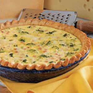 Broccoli Ham Quiche Recipe