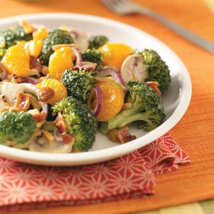 Fresh Broccoli/Mandarin Salad Recipe