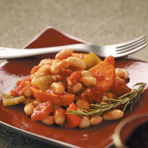 White Bean, Sweet Potato & Pepper Ragout Recipe