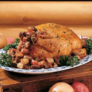 Chicken with Potato Stuffing Recipe