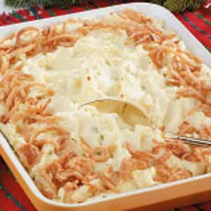 Golden Mashed Potato Bake Recipe