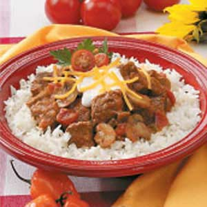 Mexican Beef and Mushrooms Recipe