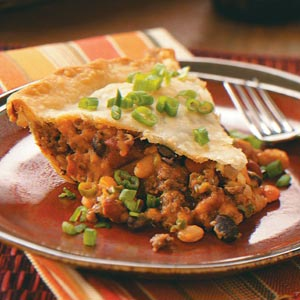 Spicy Bean and Beef Pie Recipe