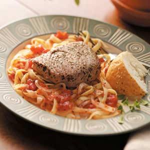 Tuna Steak on Fettuccine Recipe