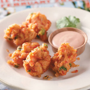 Crawfish Beignets with Cajun Dipping Sauce Recipe