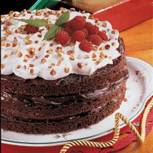 Fudgy Raspberry Torte Recipe