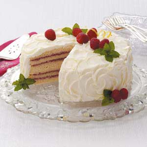 Makeover Lemon Raspberry Cake Recipe