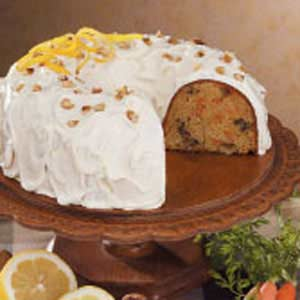 Walnut Carrot Bundt Cake Recipe