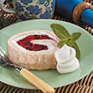 Cherry Angel Cake Roll Recipe