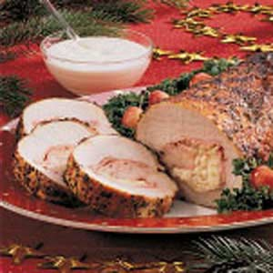 Cheese-Stuffed Pork Roast Recipe