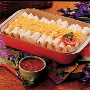 Chicken Rice Burritos Recipe