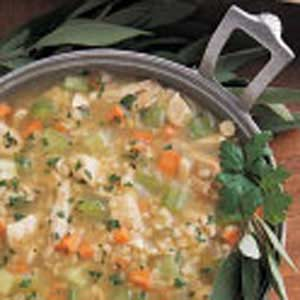Hearty Chicken Barley Soup Recipe