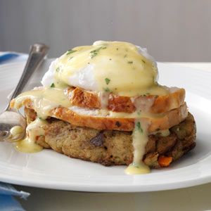 Turkey & Stuffing Eggs Benedict Recipe