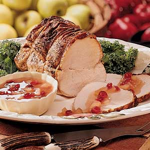 Pork Roast with Apple Topping Recipe