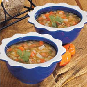 Mexican Bean Barley Soup Recipe