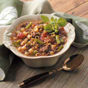Hearty Hamburger Vegetable Soup Recipe