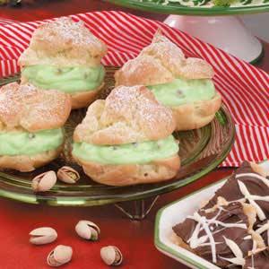 Pistachio Cream Puffs Recipe