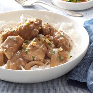 Pork Satay with Rice Noodles Recipe