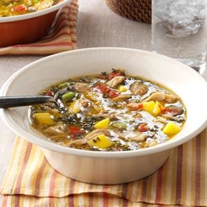 Mango & Coconut Chicken Soup Recipe