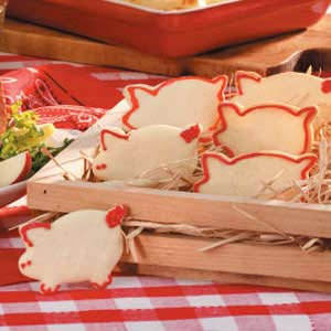 Little Piggy Sugar Cookies Recipe