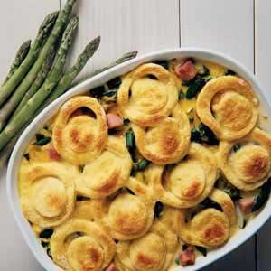 Asparagus Ham Strata Recipe