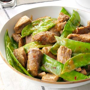 Pork 'n' Pea Pod Stir-Fry Recipe