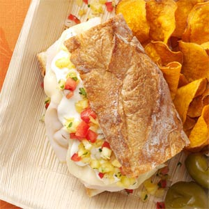 Turkey Sandwich with Pineapple Salsa Recipe