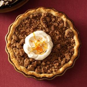 Orange Sweet Potato Pie with Ginger Streusel Recipe