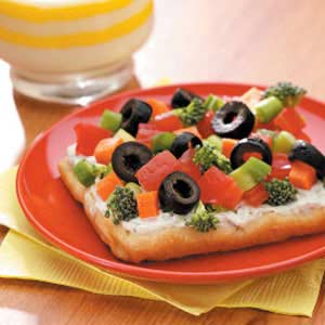Dilly Veggie Pizza Recipe