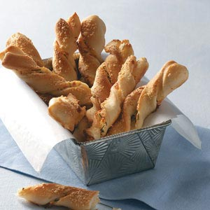 Chive and Cheese Breadsticks Recipe