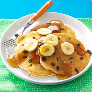 Chocolate Chip Elvis Pancakes Recipe