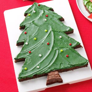 Christmas Tree Brownies Recipe