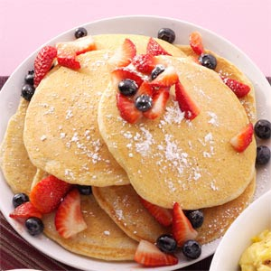 Cornmeal-Wheat Pancakes Recipe
