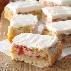 Rhubarb Custard Bars Recipe