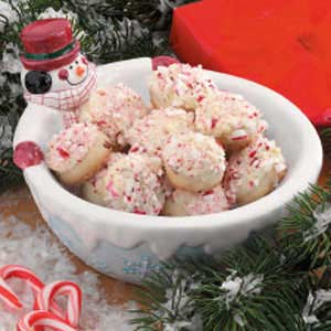 Candy Cane Snowballs Recipe