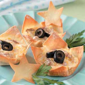 Ranch-Sausage Wonton Cups Recipe
