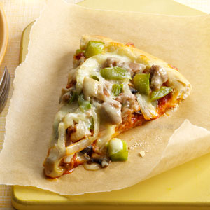 Turkey Sausage Pizza Recipe