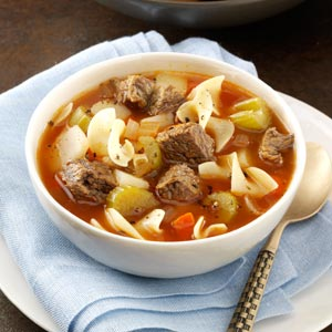 Zesty Vegetable Beef Soup Recipe