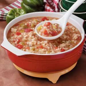 Tomato Chicken Rice Soup Recipe