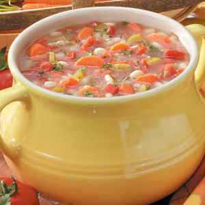 White Bean 'N' Barley Soup Recipe
