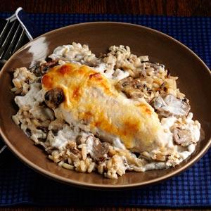 Mushroom Chicken with Wild Rice Recipe